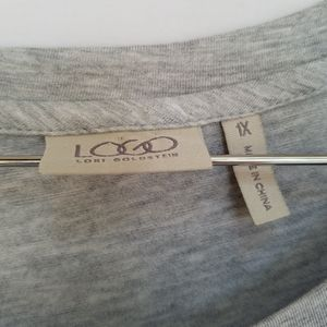 LOGO by Lori Goldstein Tops - LOGO by Lori Goldstein Gray Lace Trim Tunic 1X